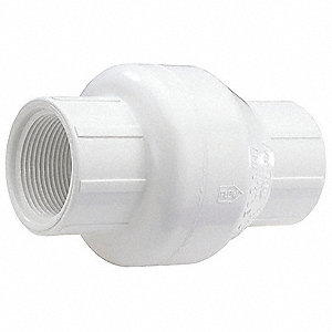 "1"" Swing Check Valve, PVC, FNPT Connection Type"