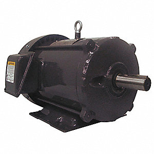 3 HP General Purpose Motor,3-Phase,1755 Nameplate RPM,Voltage 208-230/460,Frame 182/4T