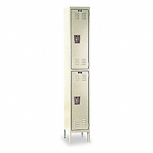 "Wardrobe Locker, Unassembled, Two Tier, 12"" Overall Width"