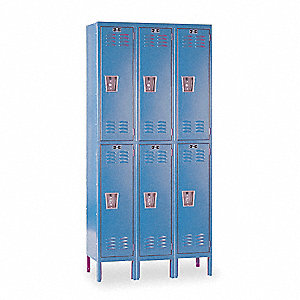 "Wardrobe Locker, Assembled, Two Tier, 36"" Overall Width"