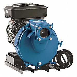 18 HP Ductile Iron 570cc Engine Driven Semi-Trash Pump, 2.2 qt. Tank Capacity