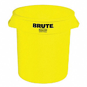 BRUTE 10 gal. Yellow, LLDPE Utility Container