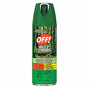off deet outdoor only insect repellent 6 oz aerosol 4hk65