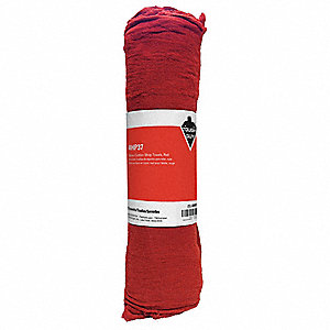 Shop Towels,New Cotton,Red,PK25