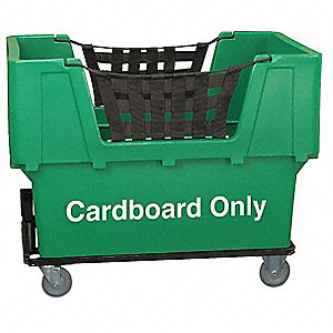 "Recycling Cart, 23 cu. ft. Volume Capacity, 1100 lb. Load Capacity, 31-1/2"" Overall Width"
