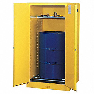 Flammable Safety Cabinet,55 Gal.,Yellow