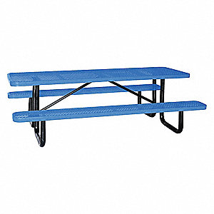 "Picnic Table,96"" W x62"" D,Blue"