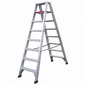 8 ft. 300 lb. Load Capacity Aluminum Twin Stepladder