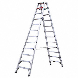 12 ft. 300 lb. Load Capacity Aluminum Twin Stepladder