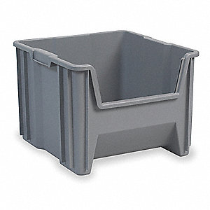 Stacking Bin,17-1/2 In. L,16-1/2 In. W