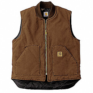 Vest,L Regular,Brown,Zipper