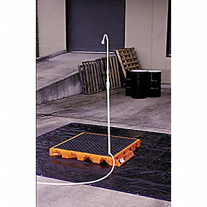 "Tactical Decon Deck, Orange Polyethylene, Height 52"", Width 5-3/4"", Length 56-5/8"""