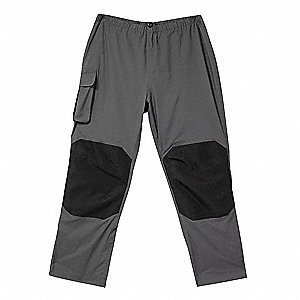 Breathable Rain Pants,Charcoal,2XL