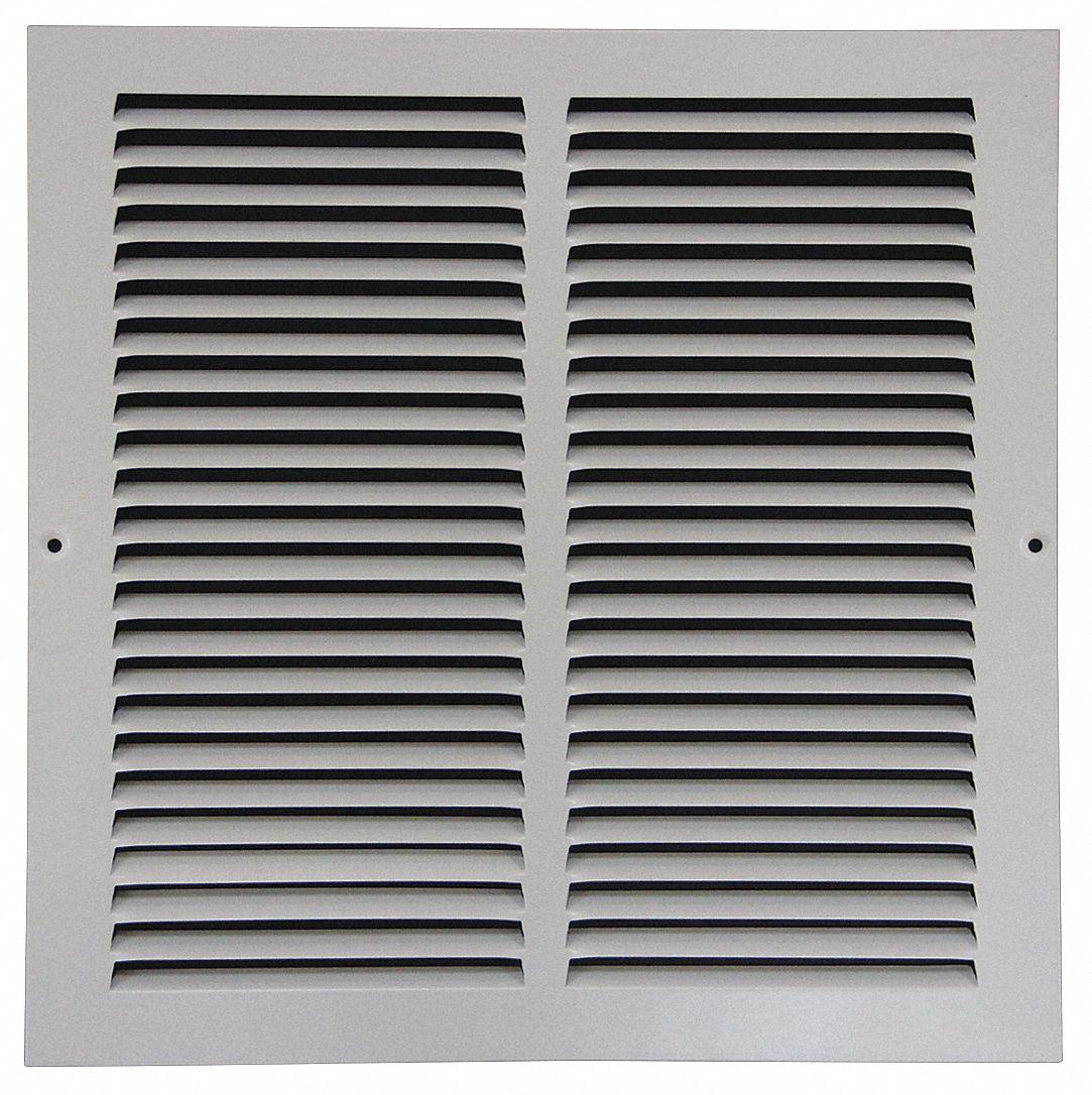grainger approved return air grille 14x14 white 4jrt1 4jrt1 grainger. Black Bedroom Furniture Sets. Home Design Ideas