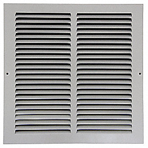Return Air Grille,6x12 In,White