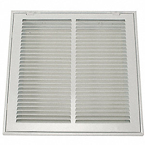 Return Air Filter Grille,12x12 In,White