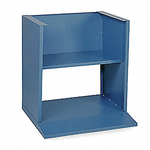Computer Pedestal Base,30x27x32 In,Blue