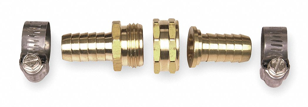 "WESTWARD Brass Hose Repair Kit, 5/8"" GHT Connection   Garden Hose Connectors and Adapters   4KG68