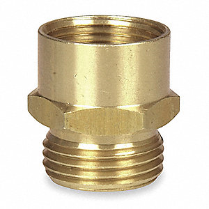 "Brass Hose To Pipe Adapter, 3/4"" MGHT x 3/4"" FNPT Connection"