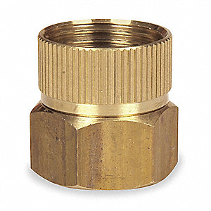 "Brass Hose To Pipe Adapter, 3/4"" FGHT x 3/4"" FNPT Connection"