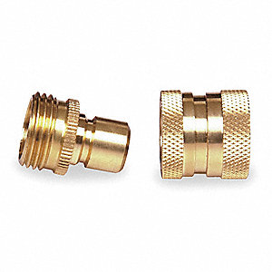 "Brass Quick Connector Set, 5/8"" GHT Connection"