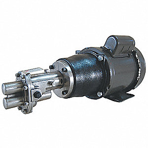 Rotary Gear Pump, 125 psi, 316 Stainless Steel, 3 HP, 1 Phase