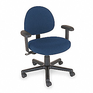 Chair, Intensive-Use,39H,Med Back,Black
