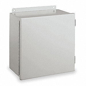 "Carbon Steel Junction Box Enclosure, 8.00"" Height, 6.00"" Width, 3.50"" Depth"