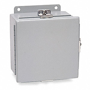"Carbon Steel Junction Box Enclosure, 10.00"" Height, 8.00"" Width, 4.00"" Depth"