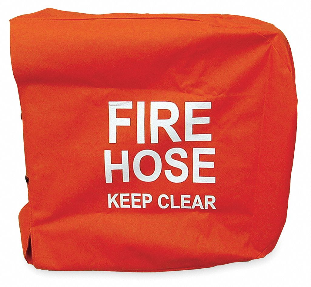 MOON AMERICAN Fire Hose Cover,25 In.L,25 In.W,Red   Fire Hose and Fire Extinguisher Accessories   4KR24 138 29