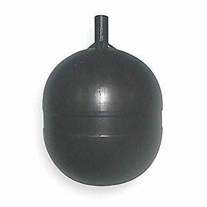 Float Ball,Round,Polyethylene,4 In