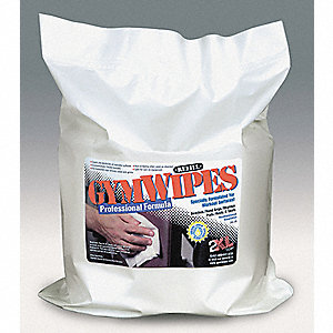 "Gym Equipment Wipes Refill, 8"" x 7"", 700 Wipes per Container, 1 EA"