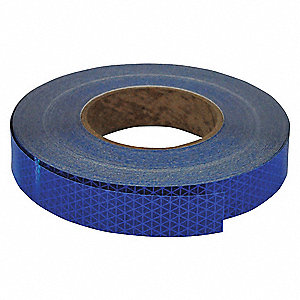 Reflective Tape,W 1 In, L 50 Yd,Blue