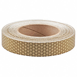 Reflective Tape,W 1 In, L 50 Yd,Gold