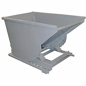 Self-Dumping Hopper, 1/2 cu. yd. Volume Capacity, 4000 lb. Load Capacity, 37-3/4 Overall Width