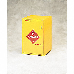 Flammable Cabinet,18X1 Gal. Bottles,YLW