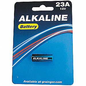 Alkaline Battery, Voltage 12, Battery Size 23A, 1 EA