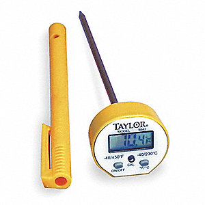 Digital Pocket Thermometer,LCD,5 In L