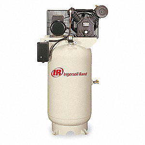7-1/2 HP,  80 gal. Vertical Splash Lubricated Tank Mounted Electric Air Compressor, CFM: 24