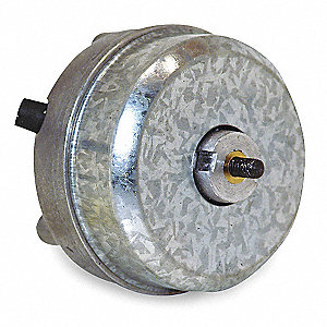1/370 HP Unit Bearing Motor, Shaded Pole, 1550 Nameplate RPM,115 Voltage, Frame Non-Standard