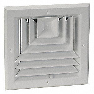 Diffuser,3-Way,Duct Size 10 In. x 10 In.