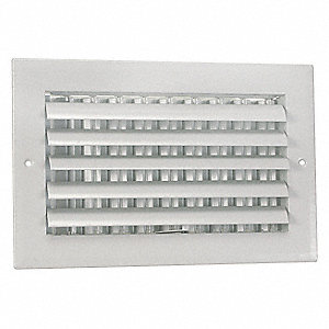 Sidewall/Ceiling Register,Adjustable