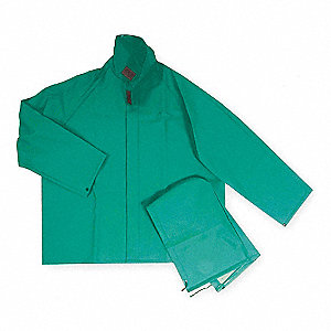 FR Rain Jacket with Detach Hood,Green,M