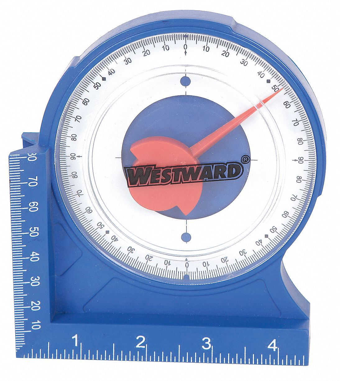 Westward Protractor Angle Finder 4 5 8in Magnetic