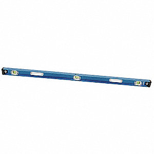 "Nonmagnetic, Aluminum I-Beam Level, 72"" Length, Top Read: No"