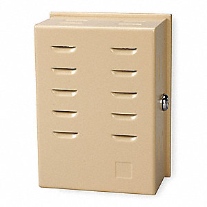 Unvrsl Thermostat Guard,Beige,Metal