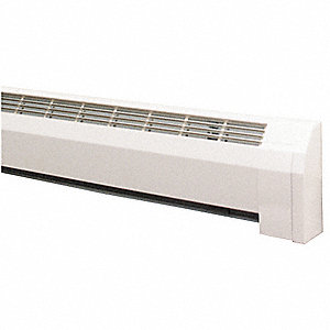 "Conventional Hydronic Baseboard Heater, Architectural, Floor, Length 48-3/4"", Height 9-1/8"""