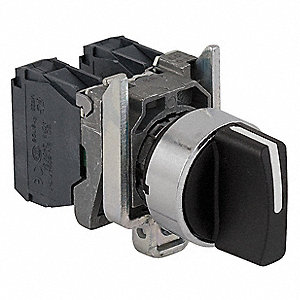 Non-Illuminated Selector Switch, Size: 22mm, Position: 3, Action: Maintained/Maintained/Maintained