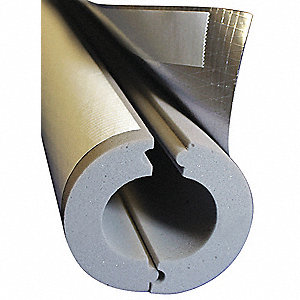 "Melamine Foam Pipe Insulation, 1"" Wall Thickness, Hinged with Self Sealing Lap Insulation Type"