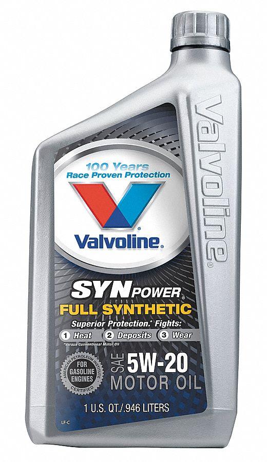 Valvoline motor oil full synthetic 32 oz 5w 20 4nph6 for Synthetic motor oil coupons